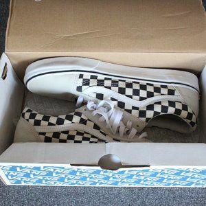 Vans Old Skool, Black White Checker Suede, Sneaker